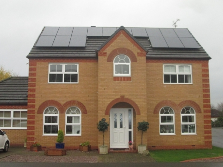 Solar panes on your home
