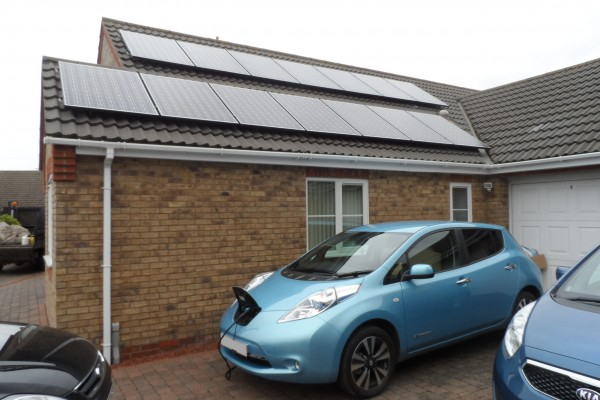 Solar panels to charge electric car